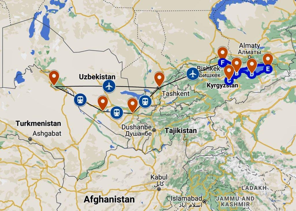 hands-on-travel-deaf-tours-map-UZBEKISTAN-KYRGYZSTAN