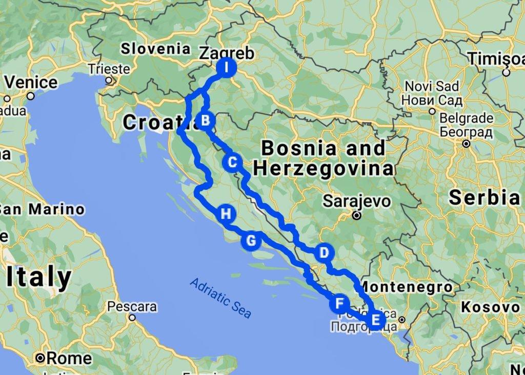 hands-on-travel-deaf-tours-map-itinerary-croatia-bosnia-montenegro