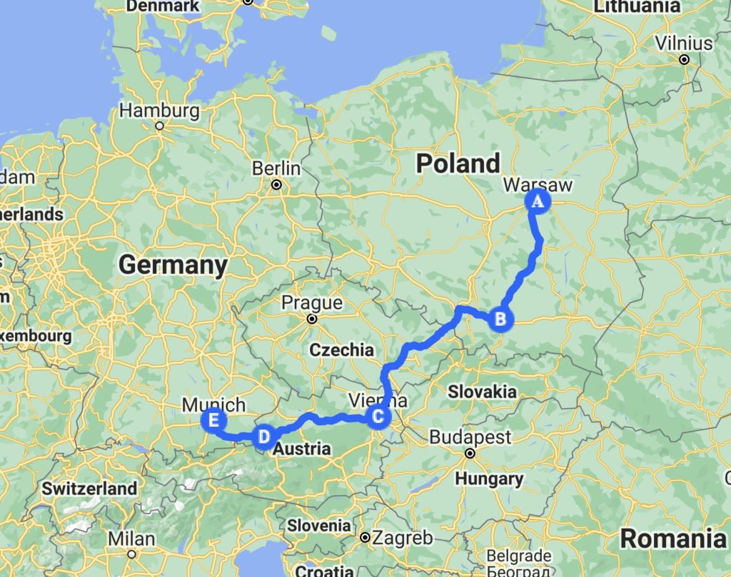 hands-on-travel-deaf-tours-map-poland-austria-germany
