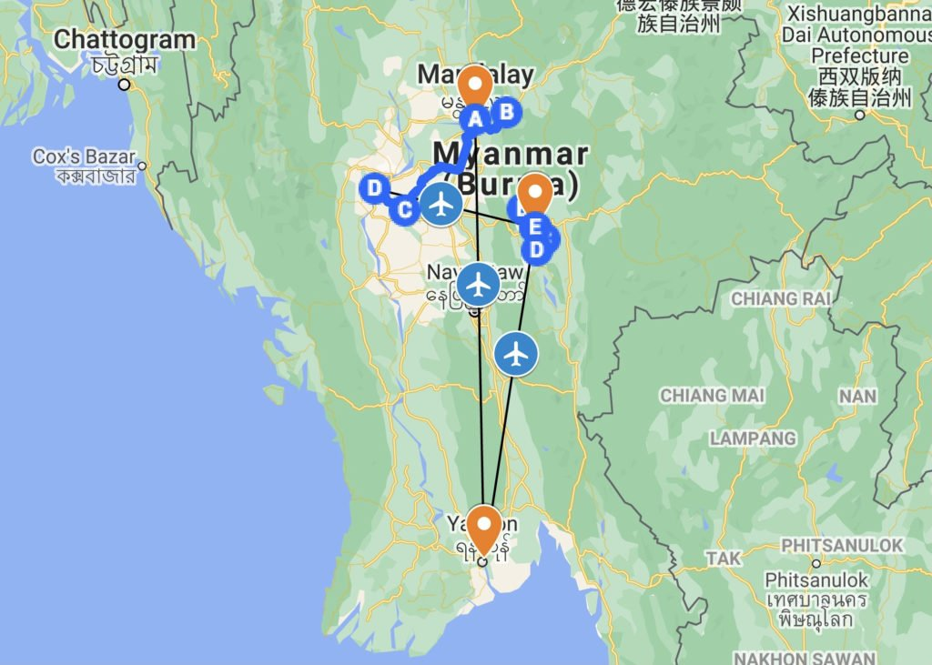 Hands On Travel Deaf Tours Guide Sign Language ASL route itinerary myanmar