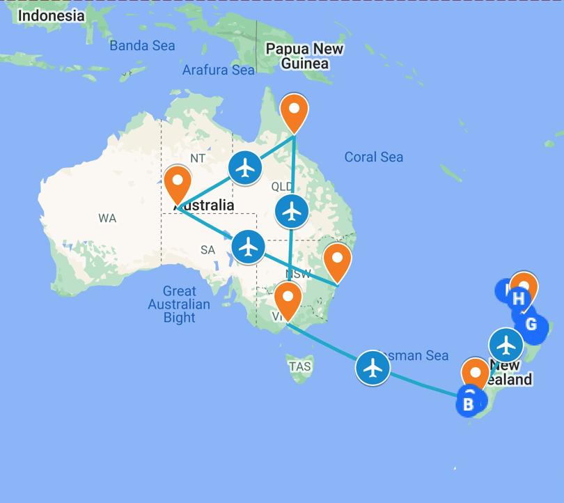 hands-travel-deaf-tours-australia-new-zealand-map
