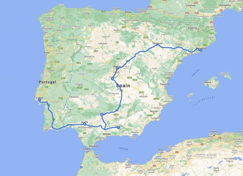 Spain_Portugal Map